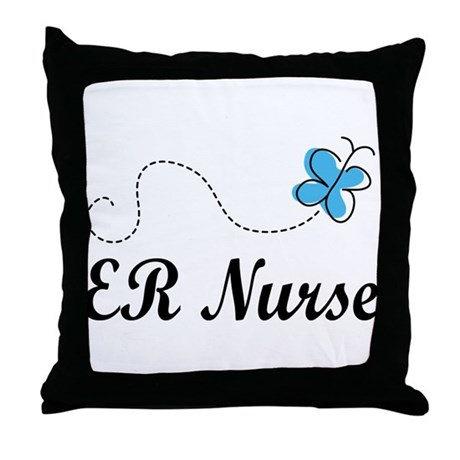 Cute Nursing Pillow : Cute ER Nurse Throw Pillow by CuteOccupationTshirts