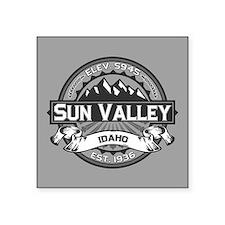 "Sun Valley Grey Square Sticker 3"" x 3"""