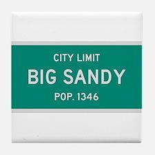 Big Sandy, Texas City Limits Tile Coaster
