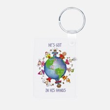 Hes Got the Whole World in His Hands Keychains