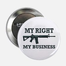 """My Right, My Business 2.25"""" Button"""