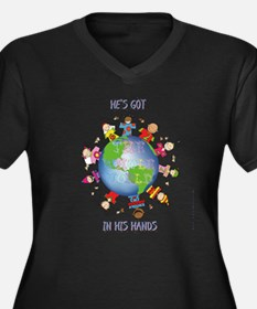 Hes Got the Whole World in His Hands Plus Size T-S