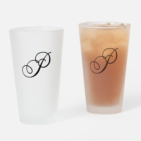 Champagne Monogram P Drinking Glass