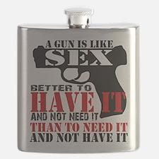 Gun is Like Sex Flask