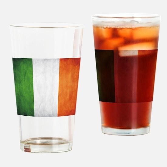 Irish Flag Drinking Glass