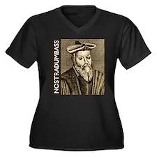 Nostradumbass Women's Plus Size V-Neck Dark T-Shir
