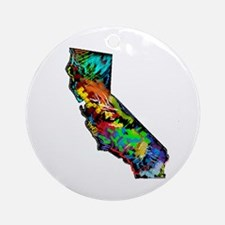 CALIFORNIA Round Ornament