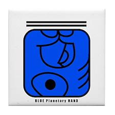 BLUE Magnetic HAND Tile Coaster