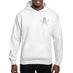 Masonic Sun in S&C outline Hooded Sweatshirt