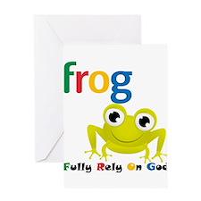 F.R.O.G. Greeting Card