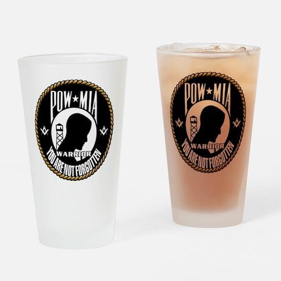 POW/MIA Masonic Drinking Glass