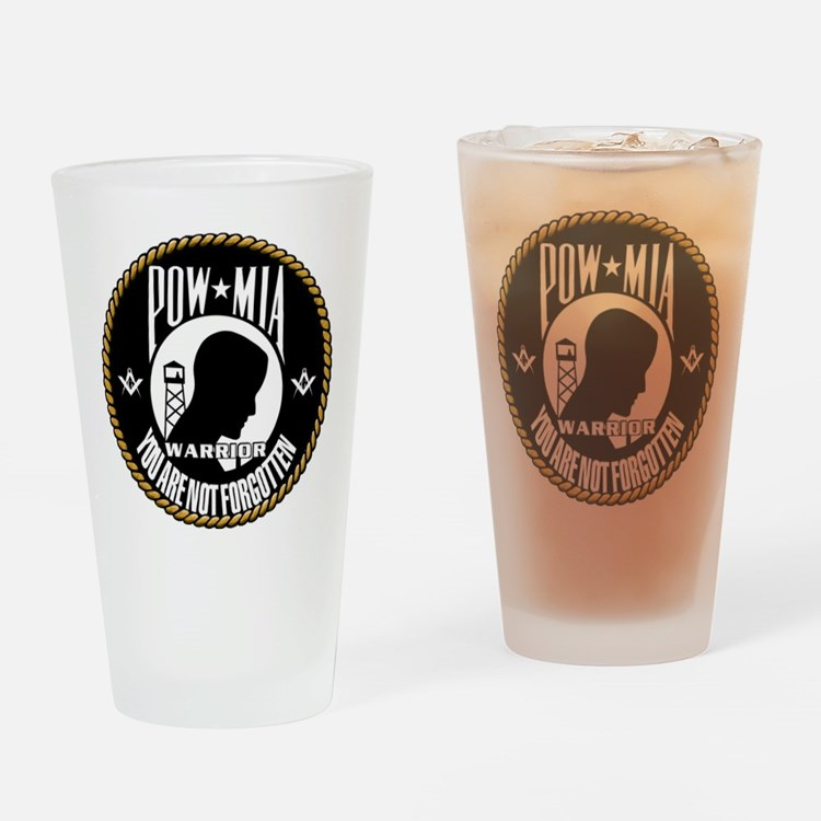 POW/MIA Masonic Drinking Glass