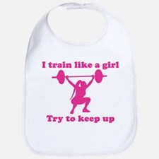 Train Like a Girl Bib