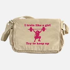 Train Like a Girl Messenger Bag