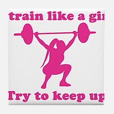 Train Like a Girl Tile Coaster