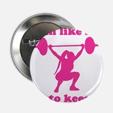 "Train Like a Girl 2.25"" Button"