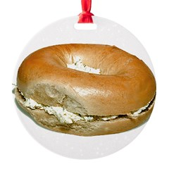 Bagel and Cream Cheese Ornament
