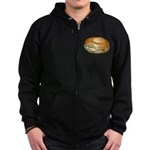 Bagel and Cream Cheese Zip Hoodie (dark)