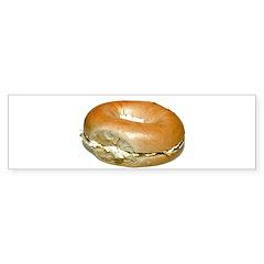 Bagel and Cream Cheese Bumper Sticker