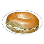 Bagel and Cream Cheese Sticker (Oval)