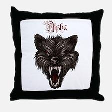 Alpha Dog Wolf Throw Pillow