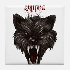 Alpha Dog Wolf Tile Coaster