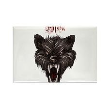 Alpha Dog Wolf Rectangle Magnet