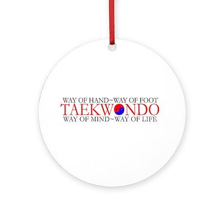 Tae Kwon Do Philosophy Ornament (Round)