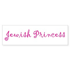 Jewish Princess Bumper Sticker