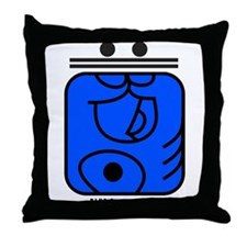 BLUE Crystal HAND Throw Pillow