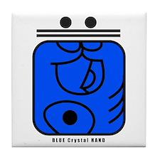 BLUE Crystal HAND Tile Coaster