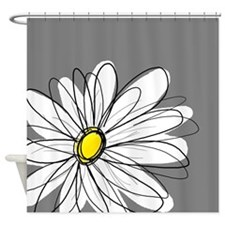 Modern Daisies - gr... Shower Curtain