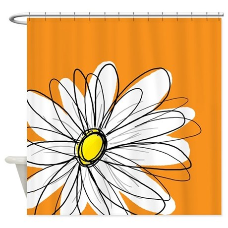 Modern Daisies - or... Shower Curtain