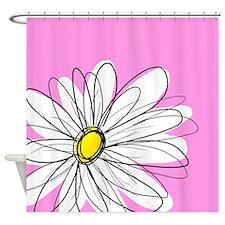 Modern Daisies - pi... Shower Curtain