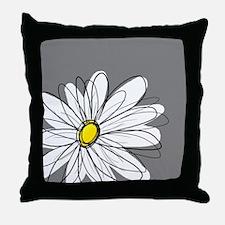 Modern Daisies - gr... Throw Pillow