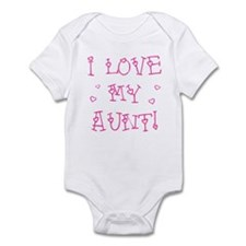 """I LOVE MY AUNT!"" Infant Bodysuit (pink/white)"