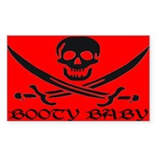 BOOTY BABY PIRATE Rectangle Decal
