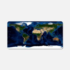 thymetric map - Aluminum License Plate