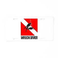 Wreck Diver (blk) Aluminum License Plate