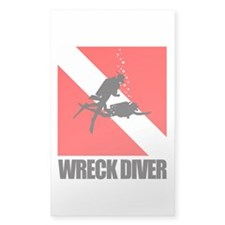Wreck Diver (blk) Decal