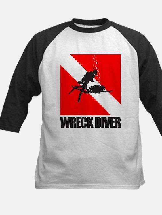 Wreck Diver (blk) Baseball Jersey