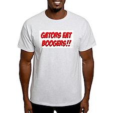 Gators Eat Boogers Light Colored T-Shirt