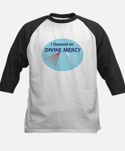 I Depend on Divine Mercy Baseball Jersey