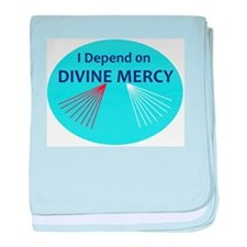 I Depend on Divine Mercy baby blanket