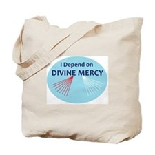 I Depend on Divine Mercy Tote Bag