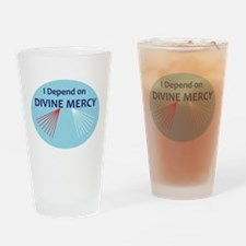 I Depend on Divine Mercy Drinking Glass