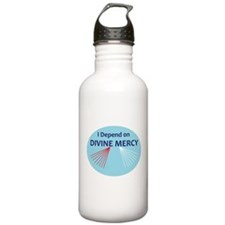 I Depend on Divine Mercy Water Bottle