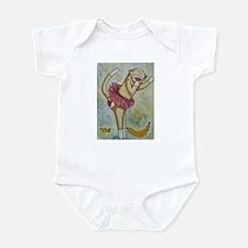 Sock Monkey in Skirt Infant Bodysuit