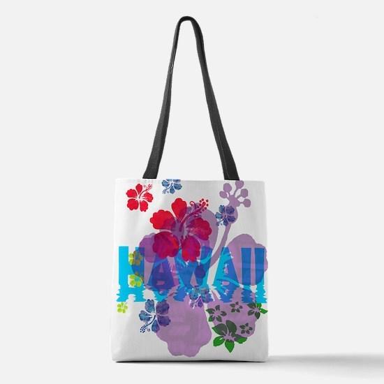 Hawaiian Hibiscus Polyester Tote Bag