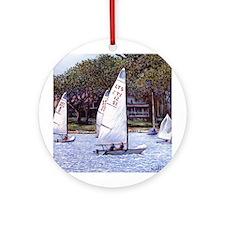 Custom Keepsake (Round) Sailboats, Harbor Springs